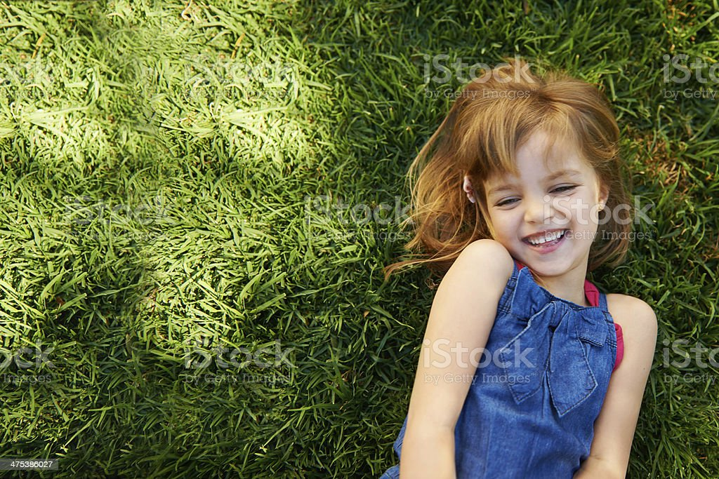 Laughing little cutie! stock photo