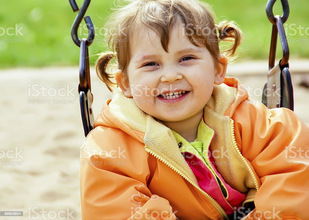 Laughing Little Girl royalty-free stock photo