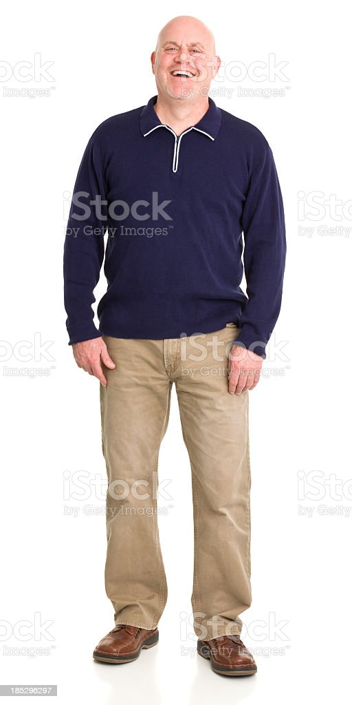 Laughing Man Standing royalty-free stock photo