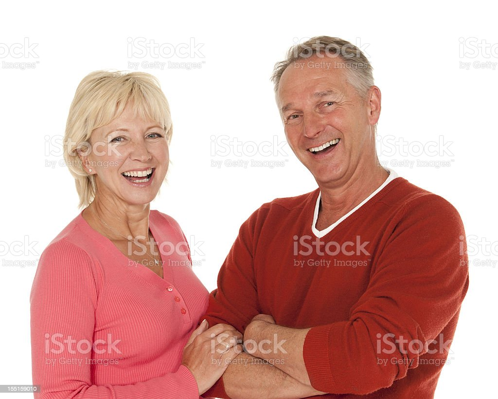 Laughing Mature Couple royalty-free stock photo