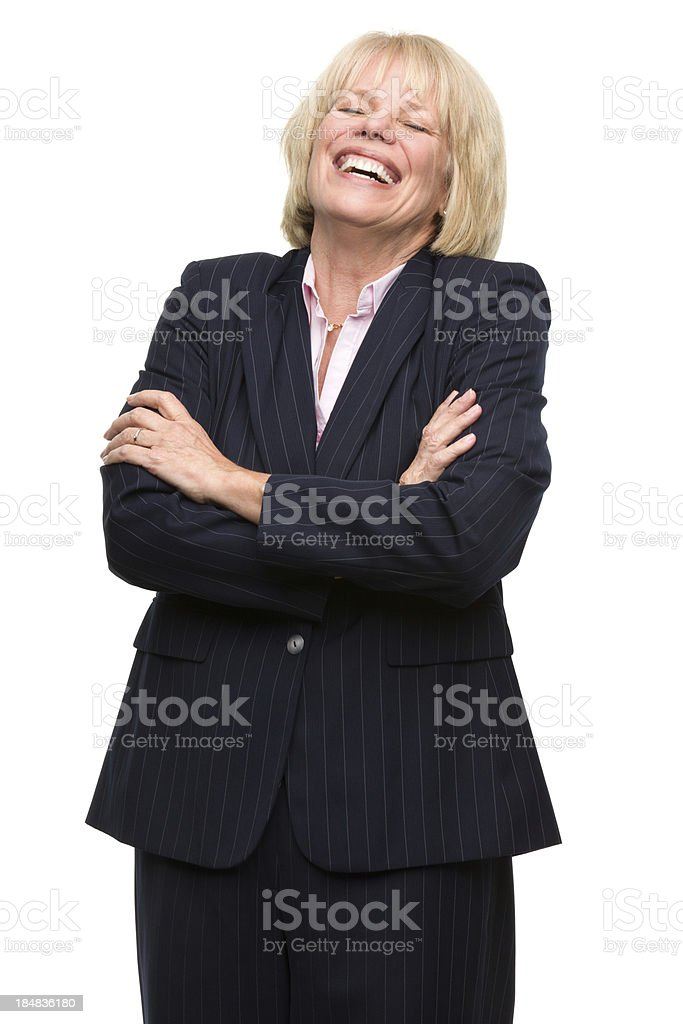 Laughing Mature Woman royalty-free stock photo