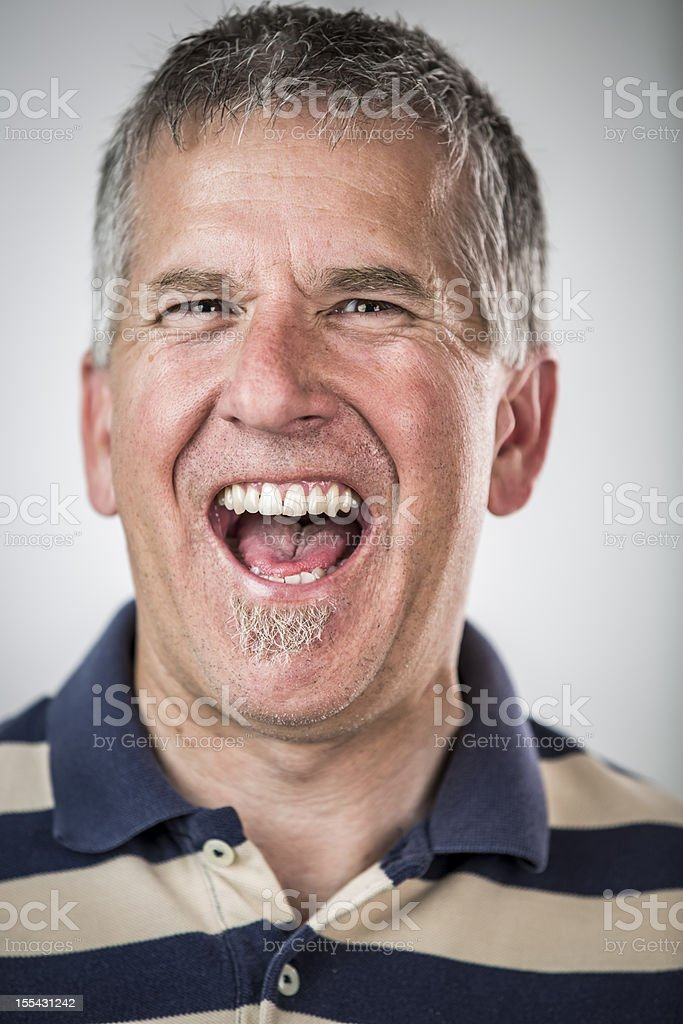 Laughing Middle Aged Man royalty-free stock photo