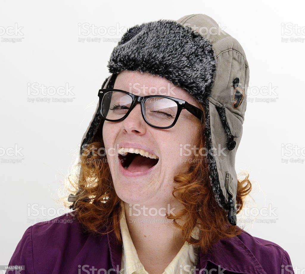 laughing nerd royalty-free stock photo