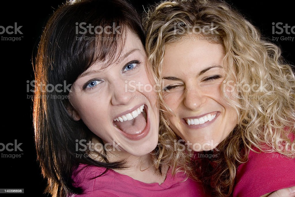 Laughing out loud royalty-free stock photo