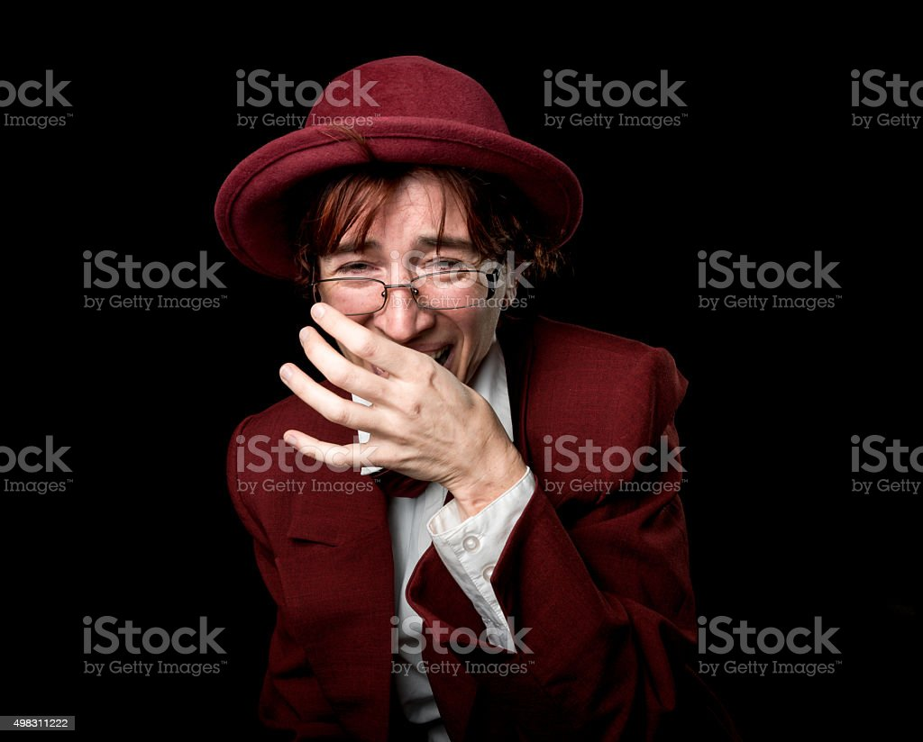 Laughing out loud stock photo