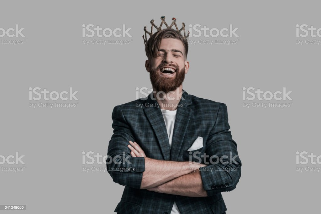 Laughing out loud! stock photo