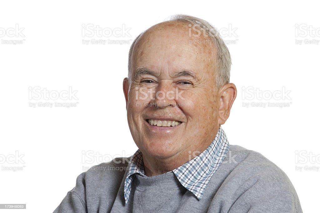 Laughing Senior Citizen royalty-free stock photo