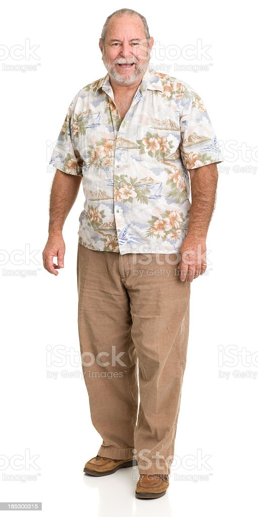 Laughing Senior Man Standing royalty-free stock photo