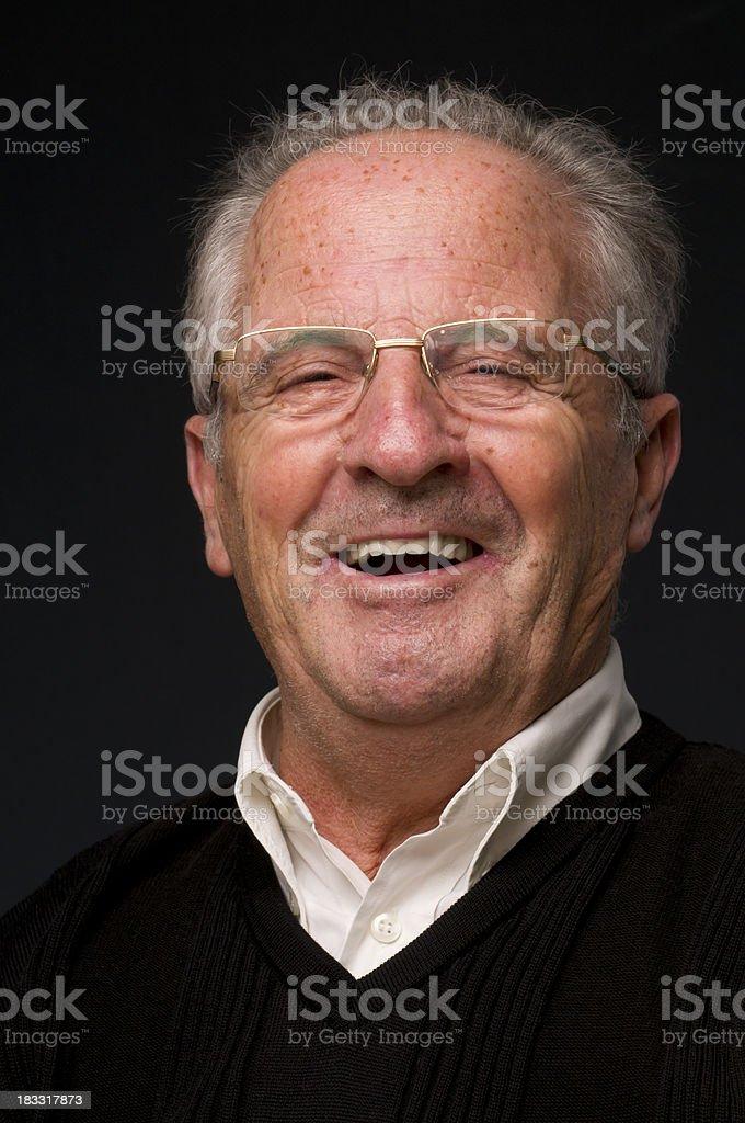 laughing senior royalty-free stock photo