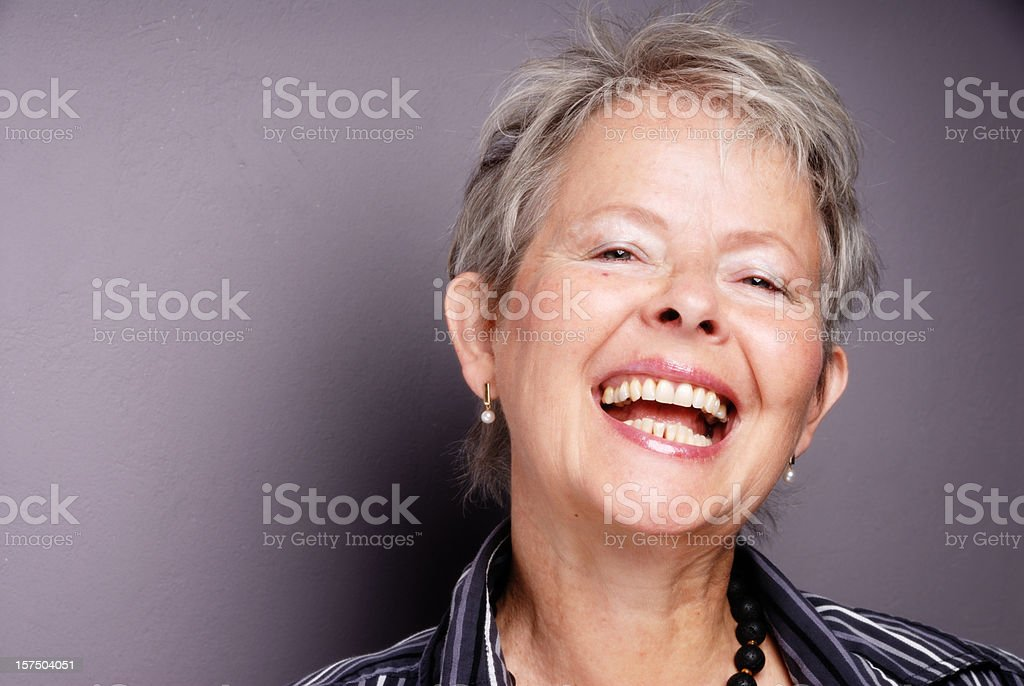 laughing senior woman royalty-free stock photo