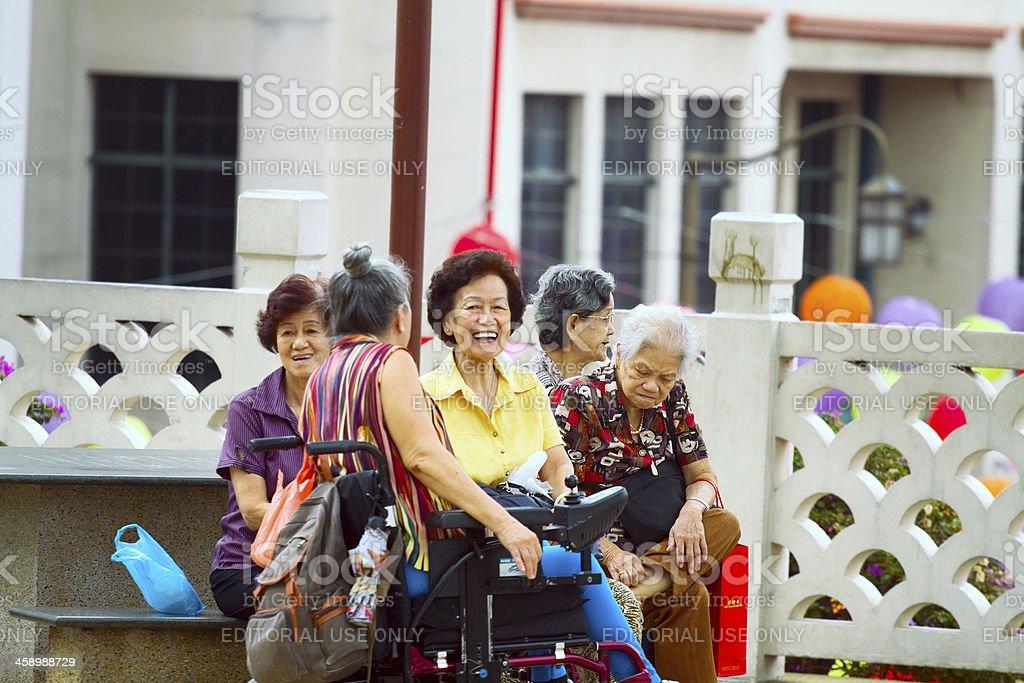 Laughing seniors royalty-free stock photo