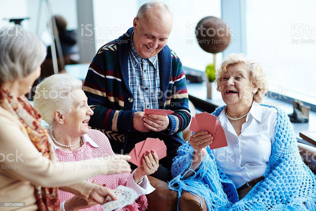 Laughing seniors stock photo