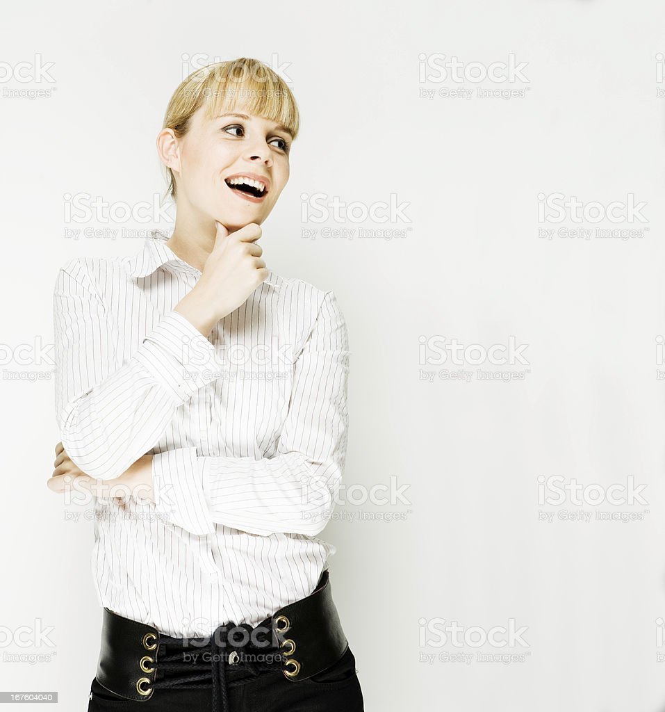 laughing sideways royalty-free stock photo