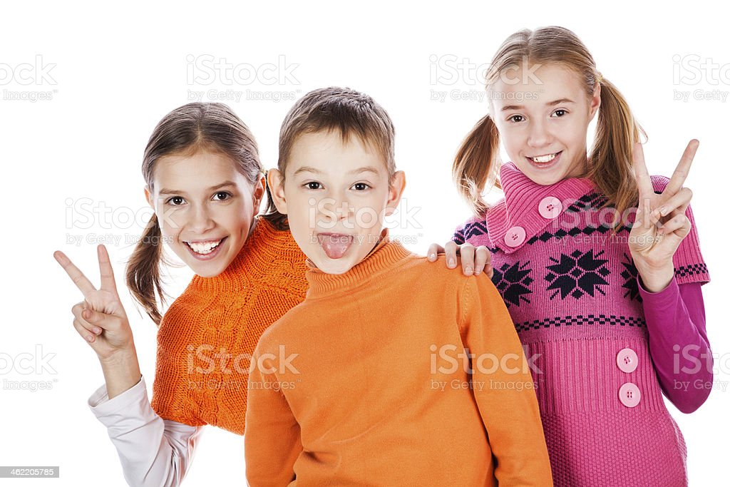 laughing small kids royalty-free stock photo