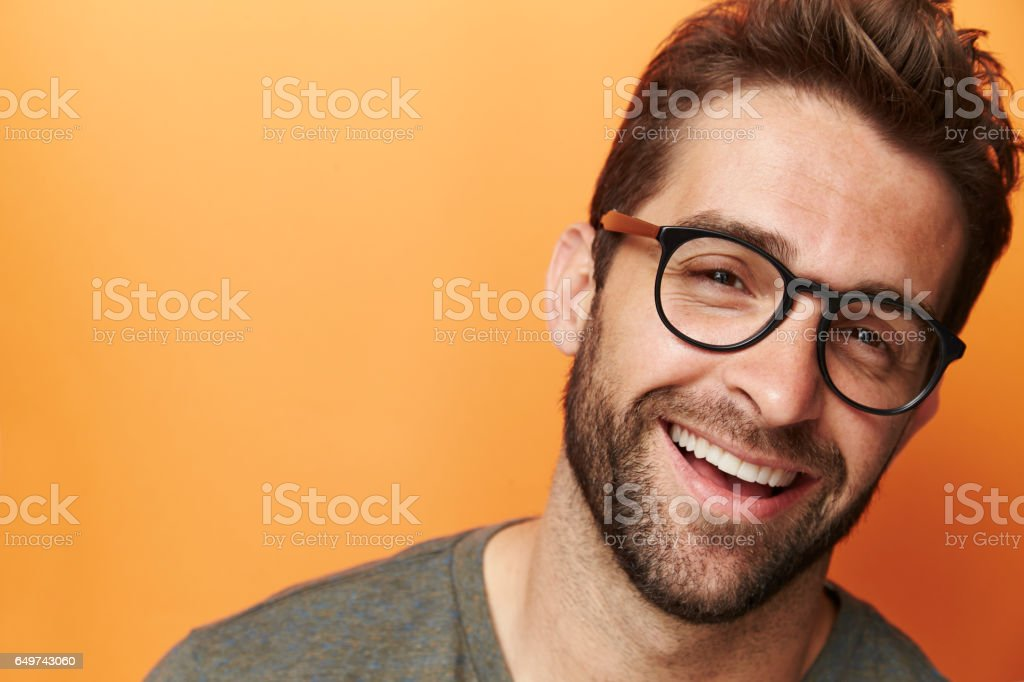 Laughing specs guy – Foto