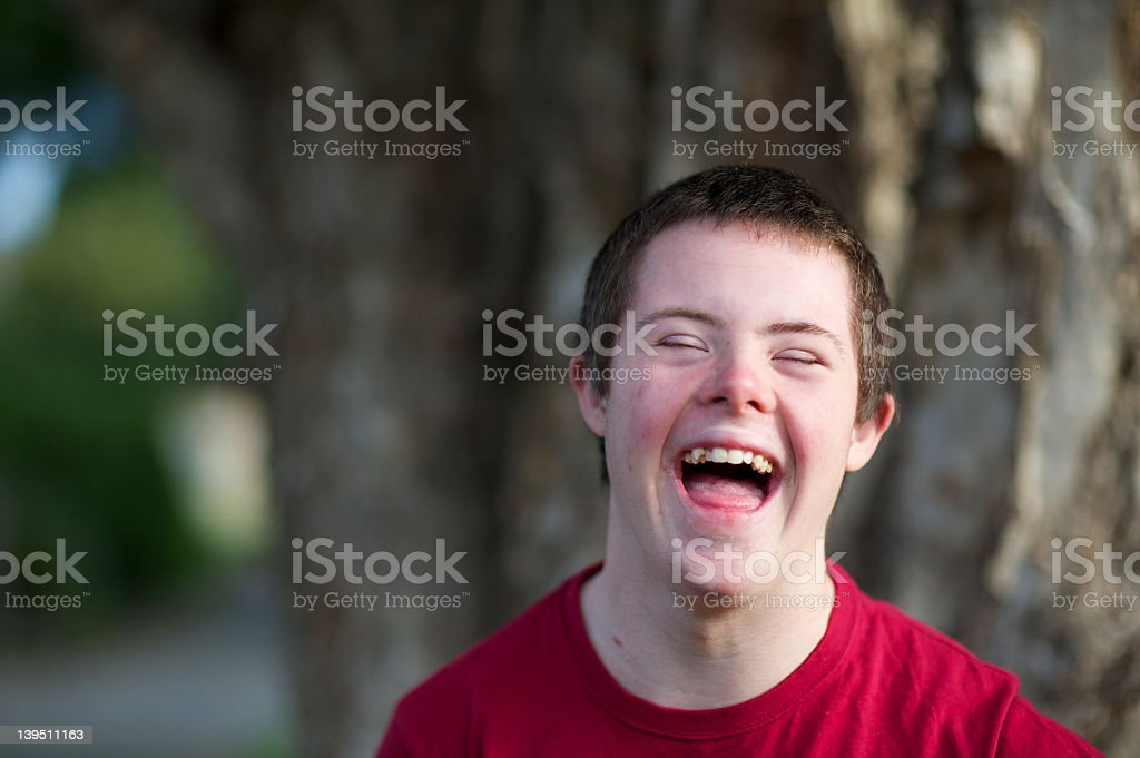 Laughing Teenage Boy stock photo