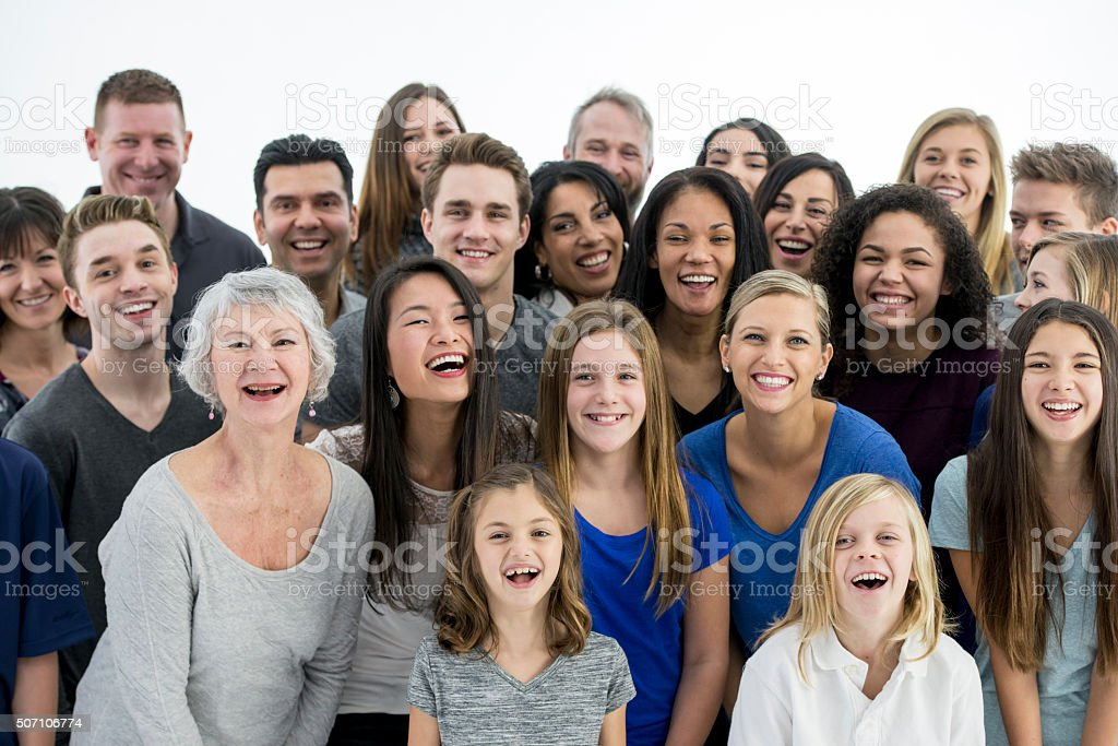 Laughing Together Happily stock photo
