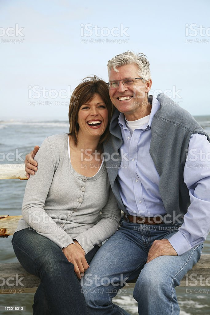 Laughing together stock photo