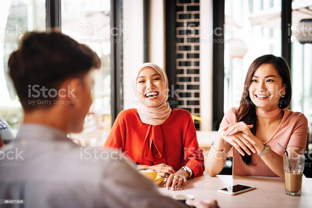 Laughing with friends during coffee break - Royalty-free 20-29 Years Stock Photo