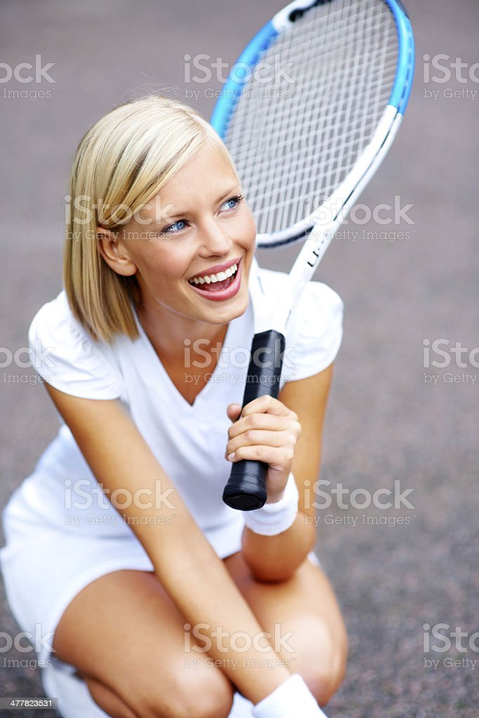 Laughing with the joy of success royalty-free stock photo