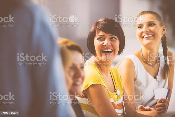 Laughing women on seminar picture id535968427?b=1&k=6&m=535968427&s=612x612&h=gxgw ytqd9dss5ocjj44km3pelisspipzrqucv1anw0=