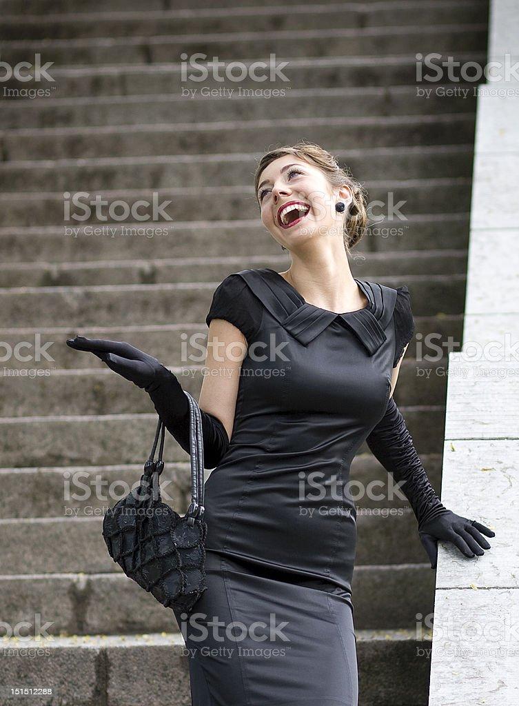 Lachen young-Schauspielerin. Lizenzfreies stock-foto