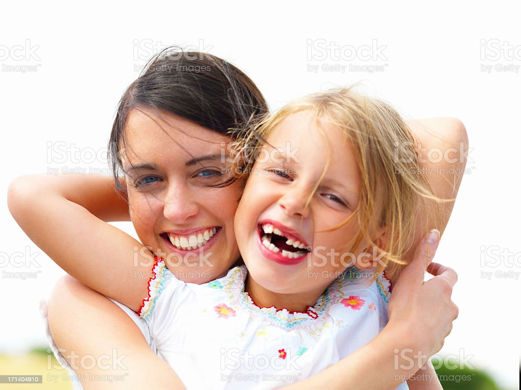 Laughing young mother with her daughter royalty-free stock photo