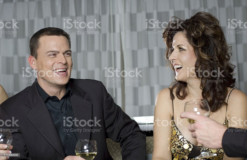 laughter among friends royalty-free stock photo