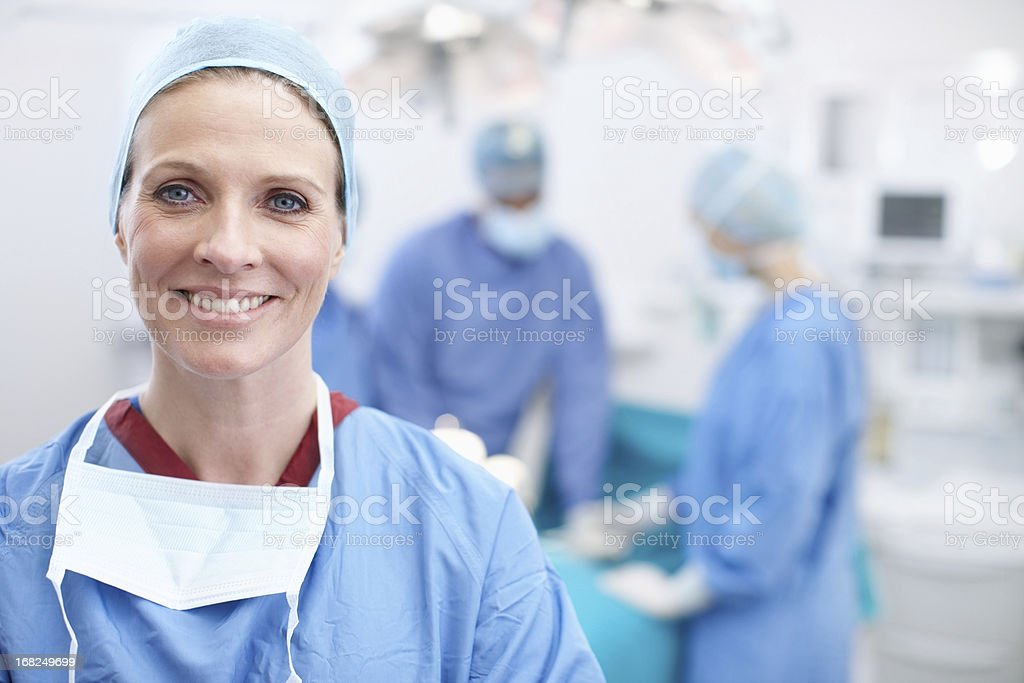 Laughter and happiness are the best medicine stock photo