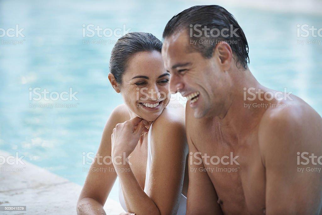 Risas y de placer - foto de stock