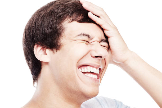 laughter closeup - loudon stock photos and pictures