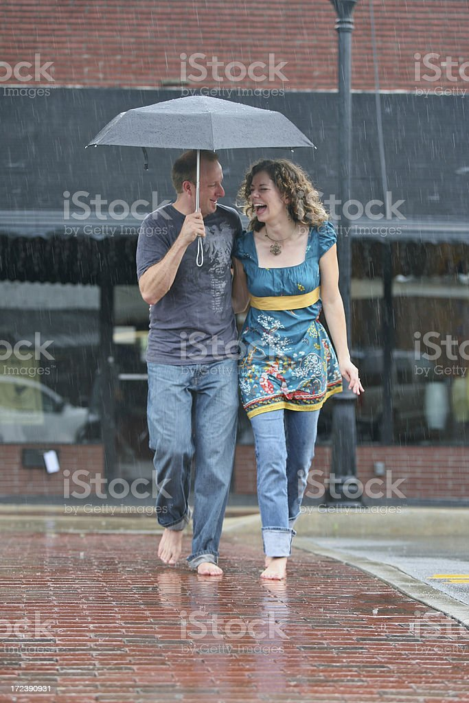 Laughter in the Rain stock photo