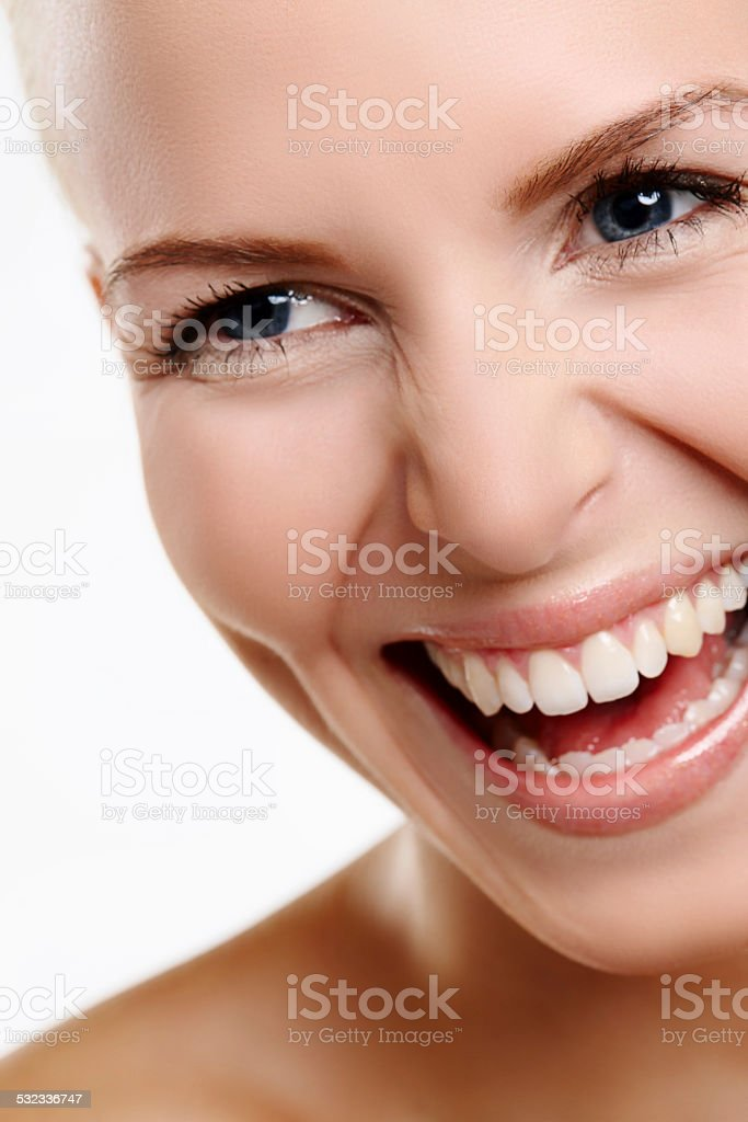 Laughter is good for the soul stock photo