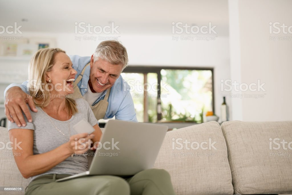 Laughter is our secret to a everlasting love stock photo