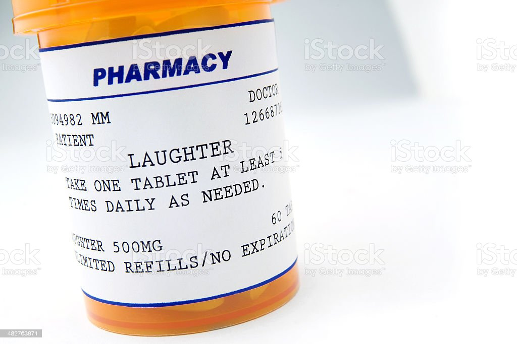 laughter is the best medicine royalty-free stock photo