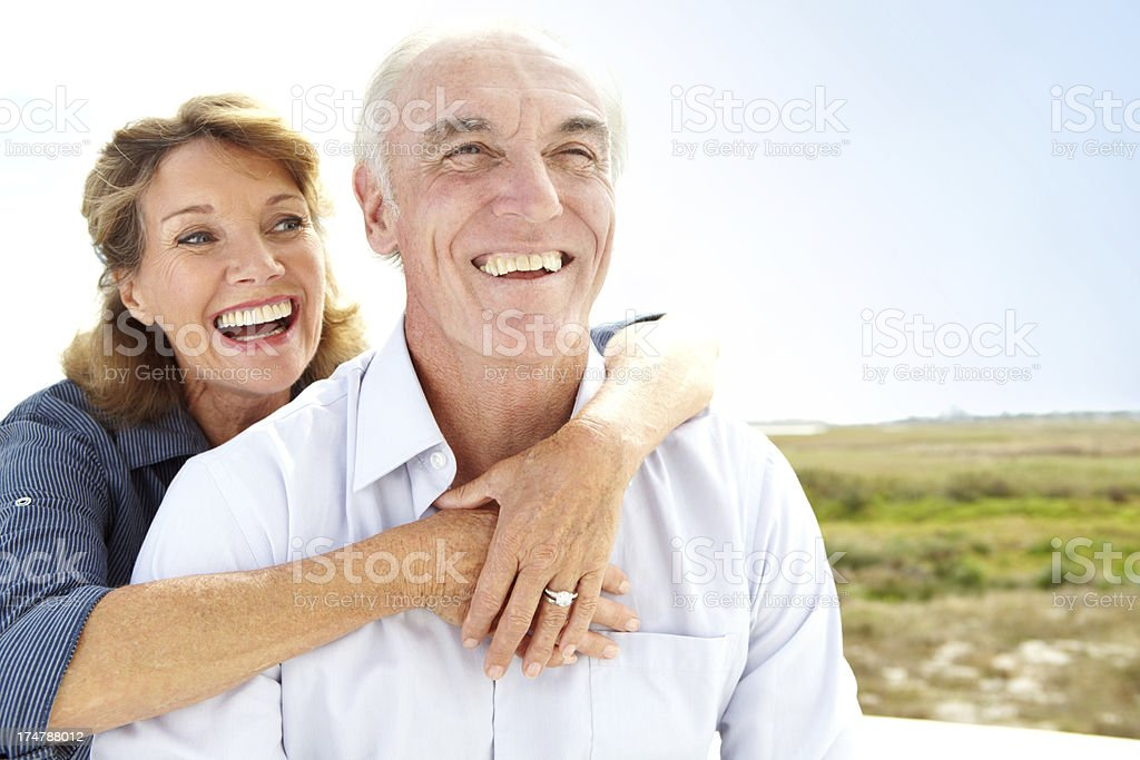 Laughter keeps you young at heart royalty-free stock photo