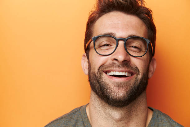 laughter man - beard stock pictures, royalty-free photos & images