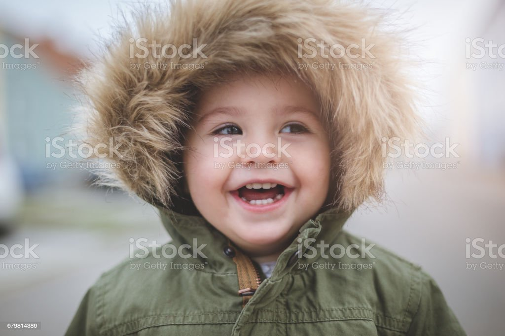 Laughter of a child stock photo