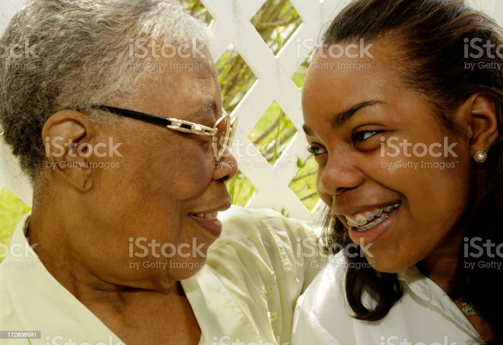 laughter with respect stock photo