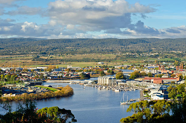 launceston on the tamar river - tasmania stock pictures, royalty-free photos & images