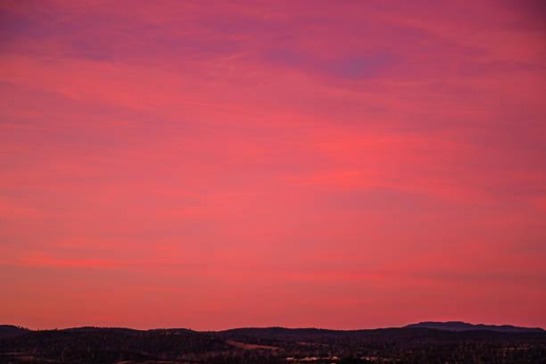 Launceston Pink Sunset stock photo