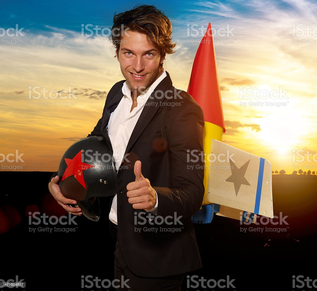 Launch for success royalty-free stock photo