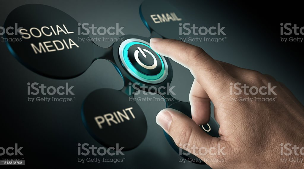 Launch of an Advertising Campaign stock photo