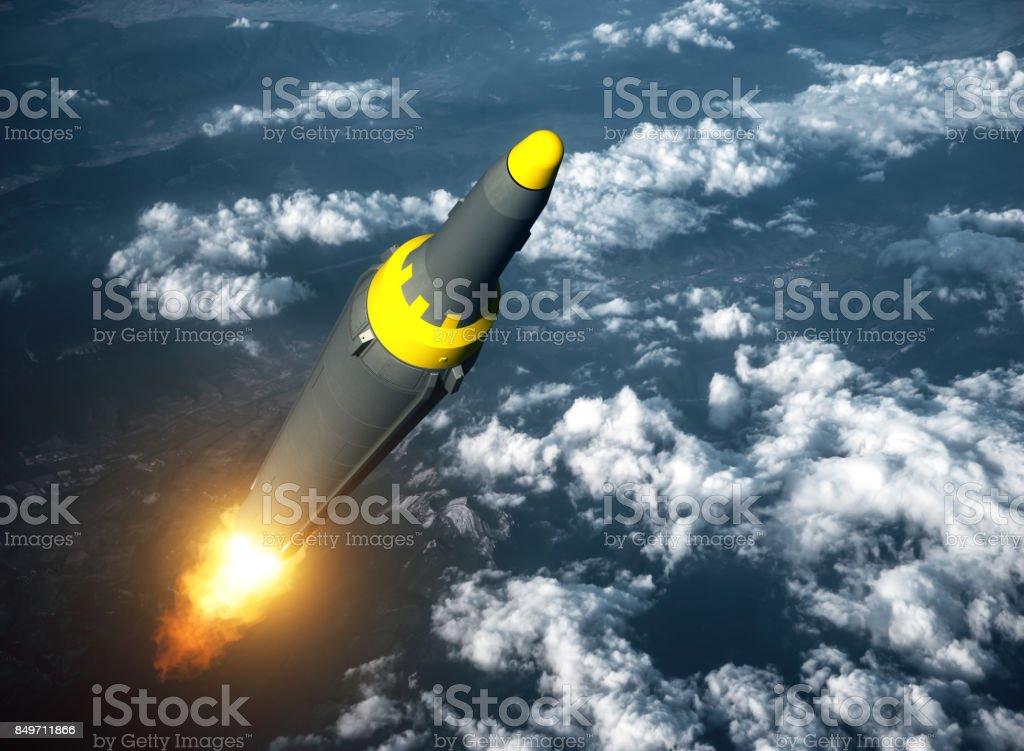 Launch Of North Korean Ballistic Missile stock photo