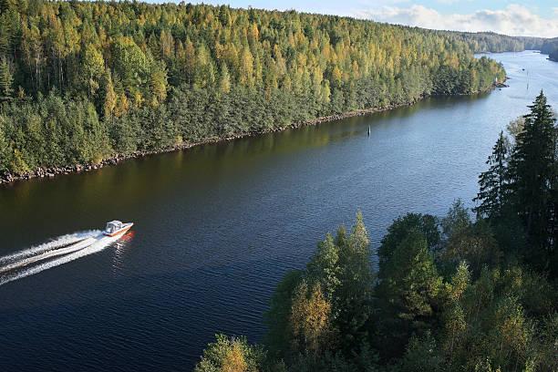 Einführung zu bewegen, Verkehr in Saima Kanal, der Ostsee – Foto