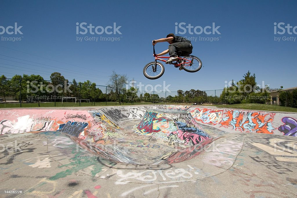 BMX launch stock photo