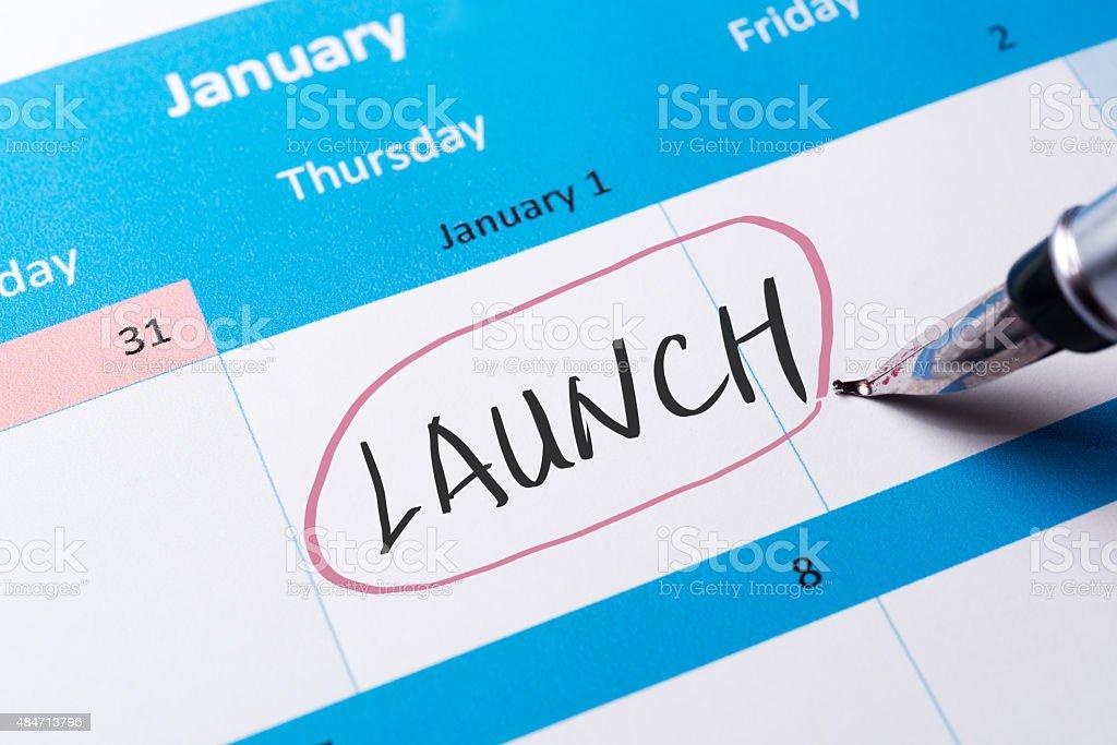 Launch word stock photo