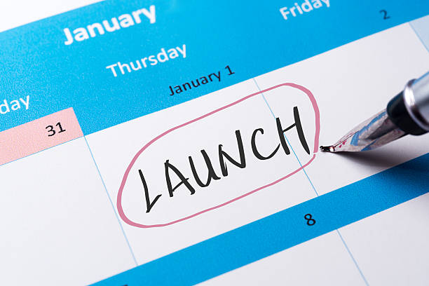 Launch word stock photo