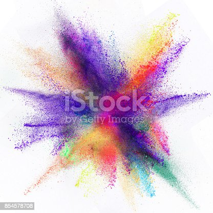 istock Launched colorful powder 854578708
