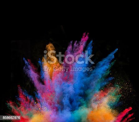 istock Launched colorful powder 858662976